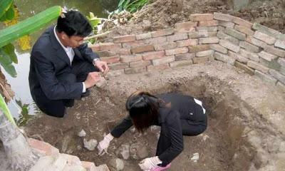 В Китае отыскали древнюю гробницу с двумя уцелевшими фресками