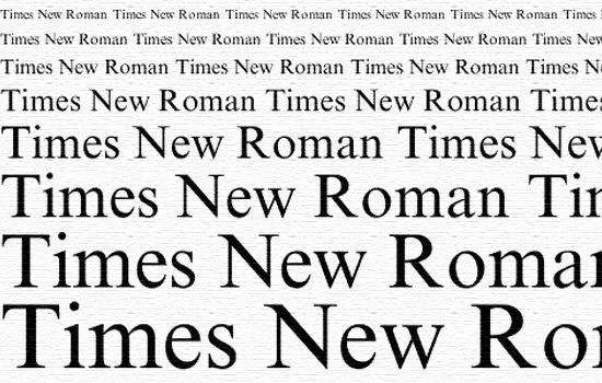 Шрифт Times New Roman — одна из...