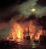 Чесменский бой 5-7 июля 1770 года
