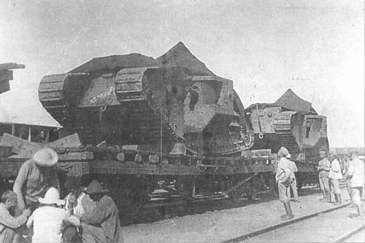 Как белоснежные воевали на танках во время Гражданской войны в России