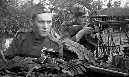 Как посвящали в снайперы на Великой Отечественной брани