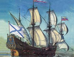 Как Андреевский флаг сделался символом русского флота и кому Петр I этим отдал долг