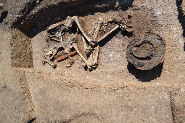 В Грузии откопали скелеты без голов и череп на блюде