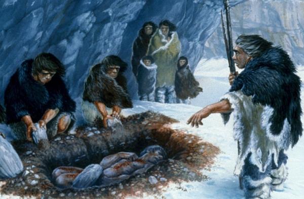 Обнаружены следы погребальных обрядов неандертальцев