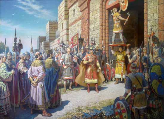 Твой щит на вратах Царьграда (Константинополя).