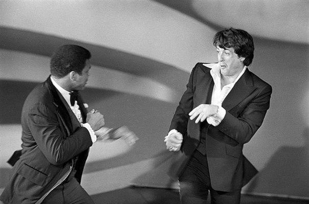 1977 год. Шуточная потасовка на вручении Оскара