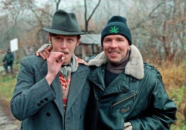 Михаил Ефремов и Гарик Сукачёв, 1996 год