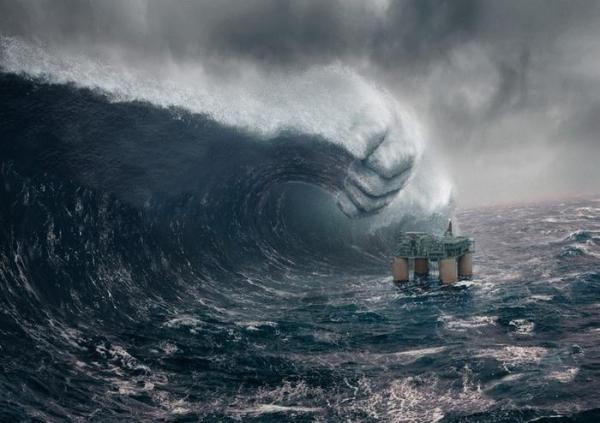 <p>Самая рослая волна цунами за всю историю</p>