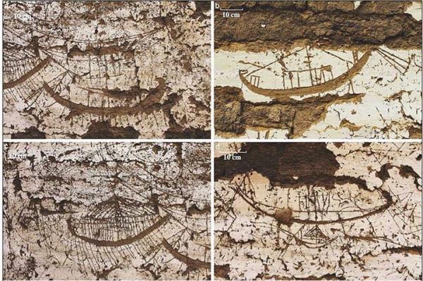 <p>В Египте отысканы доски ладьи фараона и рисунки 120 лодок</p>