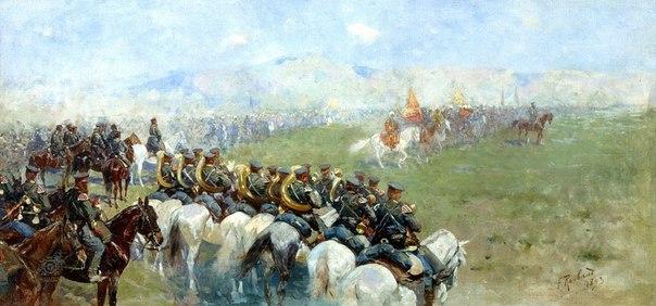 Рубо Франц Алексеевич. «Смотр армий Александром III»