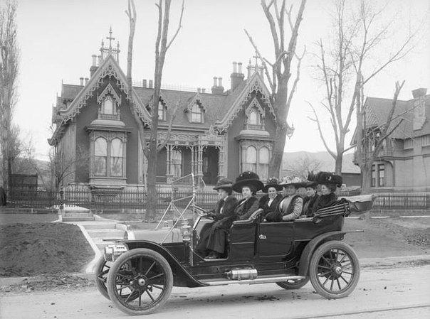 Дамы едут веселиться, 1909 г.