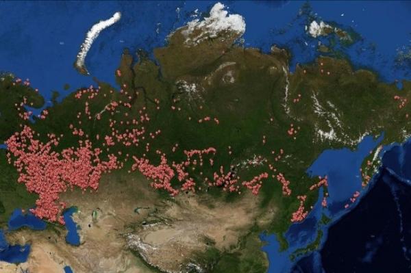 В России показалась электронная карта археологических памятников