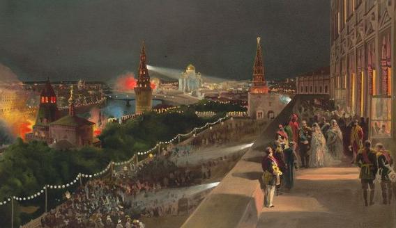 В честь коронования Александра II фонтаны били вином