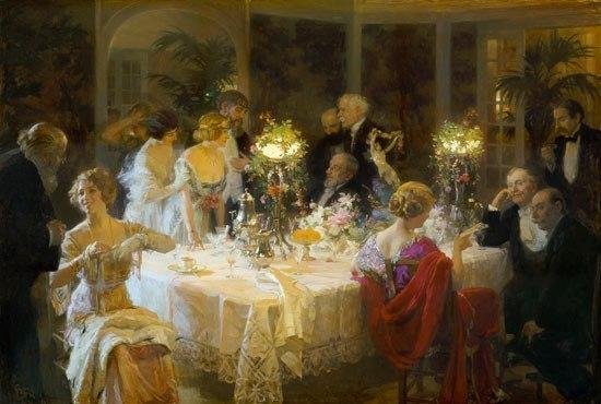 Меню дворянского званого обеда 19 век