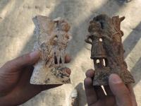 Ростовские археологи, разрывая древнее меотское захоронение, отыщи подсвечники с Томом Сойером и Бекки Тэчер