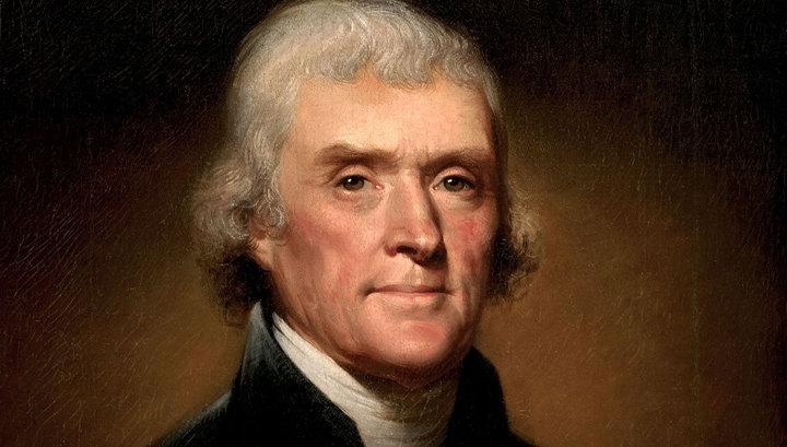 Президент США Томас Джефферсон очутился рабовладельцем