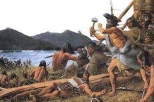 На Аляске отыщи место битвы русских колонистов с индейцами в 1804 году
