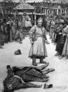 Как проходили кулачные бои в русском городе XVIII столетия